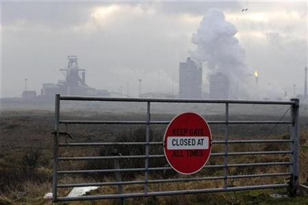 The Corus steelworks at Redcar, Teesside, northern England is seen in this January 26, 2009 file photograph. REUTERS/Nigel Roddis/Files