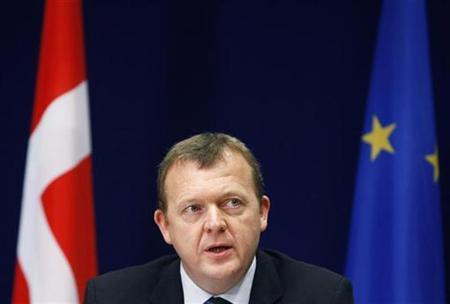 Denmark's Prime Minister Lars Lokke Rasmussen addresses a news conference at the end of a two-day European Union leaders summit in Brussels December 11, 2009. REUTERS/Yves Herman