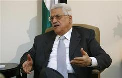 <p>Президент Палестинской автономии Махмуд Аббас дает интервью Рейтер в Рамалле 26 июля 2007 года. Президент Палестинской автономии Махмуд Аббас останется на своем посту после истечения срока полномочий в январе 2001 года, сообщили Рейтер представители Организации освобождения Палестины (ООП) со ссылкой на ее решение. REUTERS/Loay Abu Haykel</p>