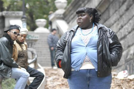 Actress Gabourey Sidibe in a scene from ''Precious: Based on the novel 'Push' by Sapphire''. REUTERS/Anne Marie Fox/Handout