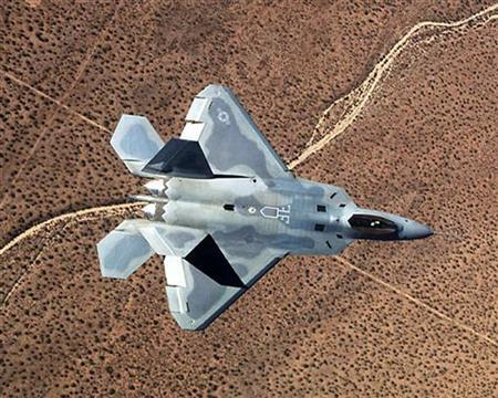 A Lockheed Martin Corp. F-22A fighter jet is pictured in this undated photograph. REUTERS/U.S. Air Force/Handout