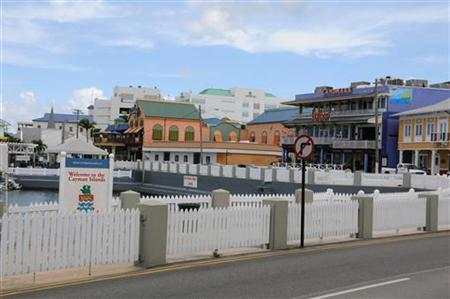 The downtown waterfront area of George Town, Grand Cayman, the capital of the island is seen in this handout released September 25, 2009. REUTERS/Alan Markoff