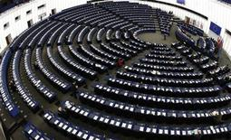 <p>General view of the European Parliament's plenary room in Strasbourg March 11, 2009. REUTERS/Vincent Kessler</p>