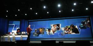 <p>L'AD di Microsoft Steve Ballmer al 2010 International Consumer Electronics Show (CES) di Las Vegas. REUTERS/Mario Anzuoni</p>