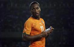 <p>Il centravanti e capitano della Costa d'Avorio, Didier Drogba. REUTERS/Katrina Manson</p>