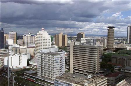 An aerial view of Kenya captial city Nairobi on July 13, 2001. REUTERS