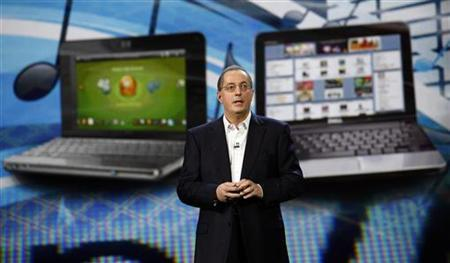 Paul S. Otellini, President and CEO of Intel Corporation, delivers his keynote speech at the 2010 International Consumer Electronics Show (CES) in Las Vegas January 7, 2010. REUTERS/Mario Anzuoni