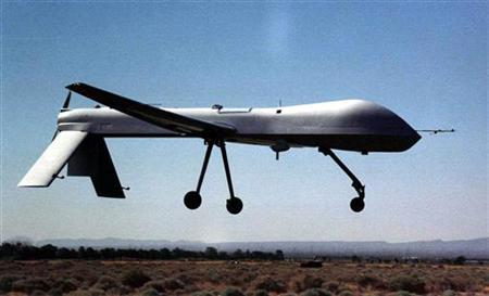 A Predator drone in an undated photo. REUTERS/File