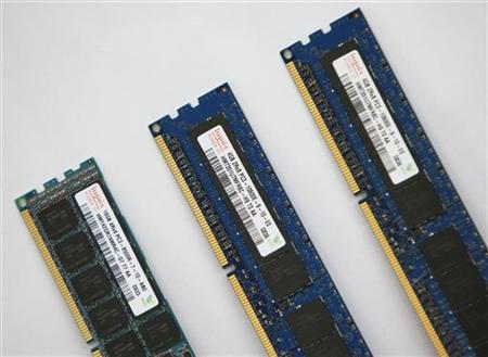 Hynix manufactured server modules are seen at the company's office in Seoul October 23, 2009. REUTERS/Lee Jae-Won
