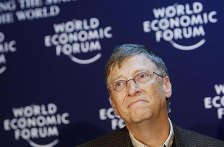 Microsoft founder Bill Gates attends a news conference at the World Economic Forum (WEF) in Davos January 29, 2010. REUTERS/Arnd Wiegmann