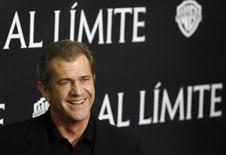 """<p>O ator Mel Gibson no lançamento de seu novo filme, """"O Fim da Escuridão"""", em Madri. REUTERS/Juan Medina</p>"""