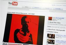 <p>Pagina di YouTube in immagine d'archivio. REUTERS/Timo Jaakonaho/Lehtikuva</p>