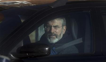Sinn Fein President Gerry Adams arrives at Hillsborough Castle, near Belfast January 30, 2010. REUTERS/Cathal McNaughton