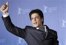 "<p>Bollywood actor Shah Rukh Khan gestures during a photocall to promote the movie ""My Name is Khan"" at the 60th Berlinale International Film Festival in Berlin February 12, 2010. REUTERS/Christian Charisius</p>"