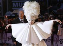 <p>Lady Gaga arrives at the 30th Brit Awards ceremony at Earl's Court in London February 16, 2010. REUTERS/Luke Macgregor</p>