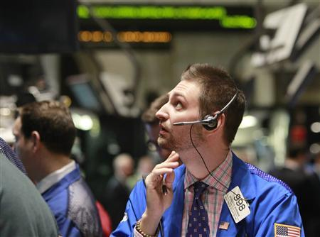 Traders work on the floor of the New York Stock Exchange, February 18, 2010. REUTERS/Brendan McDermid