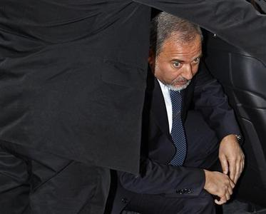 Israel's Foreign Minister Avigdor Lieberman arrives at the European Union council headquarters during a EU foreign ministers meeting in Brussels, February 22, 2010. REUTERS/Yves Herman