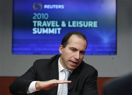 Expedia CEO Dara Khosrowshahi speaks during the 2010 Reuters Travel and Leisure Summit in New York February 22, 2010. REUTERS/Lucas Jackson