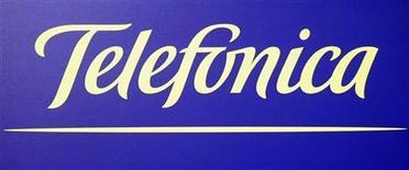 <p>Il logo di Telefonica. REUTERS/Sergio Perez (SPAIN)</p>