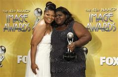 "<p>Actress Mo'Nique (L), winner of Outstanding Supporting Actress in a Motion Picture award for her work in ""Precious: Based on the Novel ""Push"" by Sapphire"", poses with actress Gabourey Sidibe winner of Outstanding Actress in a Motion Picture award for her work on the same film backstage at the 41st Annual NAACP Image Awards at the Shrine auditorium in Los Angeles, February 26, 2010. REUTERS/Danny Moloshok</p>"