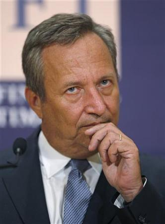 White House Director of National Economic Council Larry Summers listens to a question from the audience after delivering the keynote address at the Future of Global Finance conference at Georgetown University's McDonough School of Business in Washington, September 18, 2009 file photo. REUTERS/Hyungwon Kang