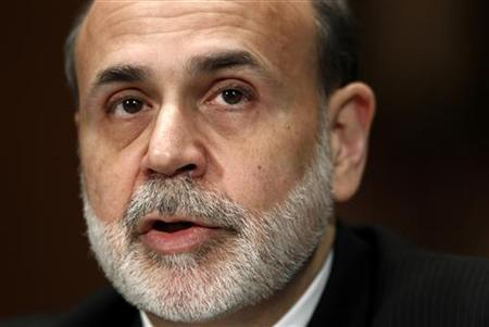 """Federal Reserve Board Chairman Ben Bernanke testifies before a Senate Banking, Housing and Urban Affairs Committee hearing on """"The Semiannual Monetary Policy Report to the Congress'' on Capitol Hill in Washington February 25, 2010. REUTERS/Kevin Lamarque"""