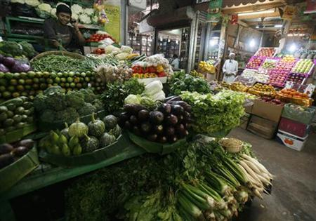 A Kolkata vegetable market is seen in this February 25, 2010 file photo. REUTERS/Parth Sanyal