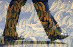<p>Пешеход проходит мимо витрины супермаркета в Сиднее, 21 октября 2008 года. Австралийский производитель нижнего белья AussieBum решил выпустить коллекцию для мужчин, сделанную из бананов. REUTERS/Daniel Munoz</p>
