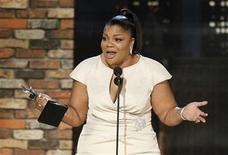 "<p>Mo'Nique accepts the award for best supporting female for ""Precious: Based on the Novel 'Push' by Sapphire"" at the 25th Film Independent Spirit Awards in Los Angeles March 5, 2010. REUTERS/Mario Anzuoni</p>"