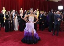 "<p>Actress Zoe Saldana of the film ""Avatar"" arrives on the red carpet at the 82nd Academy Awards in Hollywood, March 7, 2010. REUTERS/Lucas Jackson</p>"