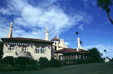 A 1995 exterior photo of the lavish West Palm Beach mansion Mar-A-Lago. REUTERS/Marc Serota