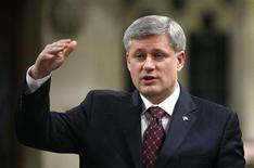 <p>Canada's Prime Minister Stephen Harper speaks during Question Period in the House of Commons on Parliament Hill in Ottawa March 9, 2010. REUTERS/Chris Wattie</p>