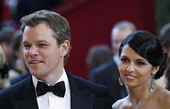 "<p>Matt Damon, best supporting actor nominee for ""Invictus"" and his wife, Luciana Barroso, arrive at the 82nd Academy Awards in Hollywood, March 7, 2010. REUTERS/Lucas Jackson</p>"