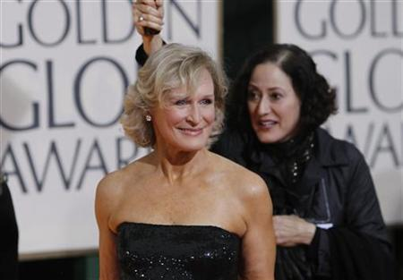Actress Glenn Close (L) arrives at the 67th annual Golden Globe Awards in Beverly Hills, California January 17, 2010 file photo. REUTERS/Danny Moloshok