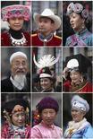 <p>Fotografie di diversi gruppi etnici minoritari cinesi radunati a Pechino lo scorso 5 marzo per partecipare all'Assemblea nazionale del popolo. REUTERS/Nir Elias</p>