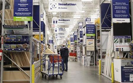 A man shops inside the Lowe's home improvement store in New York February 22, 2010. REUTERS/Shannon Stapleton