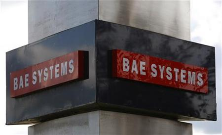 A BAE systems sign is seen outside the company's Warton site near Preston, northern England, in this October 1, 2009 file photo. REUTERS/Phil Noble