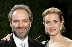 <p>Actress Kate Winslet and husband director Sam Mendes arrive at the 2009 Vanity Fair Oscar Party in West Hollywood, California, February 22, 2009. REUTERS/Danny Moloshok</p>
