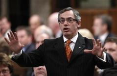 <p>Canada's Industry Minister Tony Clement speaks during Question Period in the House of Commons on Parliament Hill in Ottawa March 16, 2010. REUTERS/Chris Wattie</p>