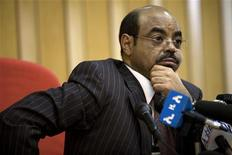 <p>Ethiopian Prime Minister Meles Zenawi at his office in Addis Ababa, April 13, 2009. REUTERS/Irada Humbatova</p>