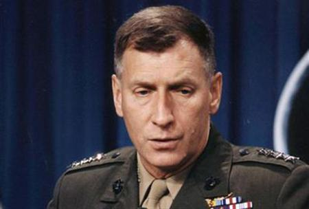 Former NATO Supreme Allied Commander John Sheehan in a 1996 photo. REUTERS/File