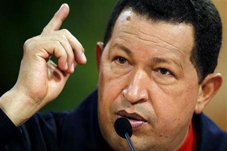 Venezuelan President Hugo Chavez attends a news conference at Miraflores Palace in Caracas February 25, 2010. REUTERS/Jorge Silva