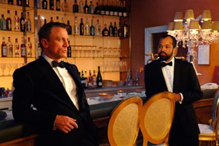 Daniel Craig (L) is seen in a film still from Casino Royale. REUTERS/MGM/Columbia Pictures/Handout