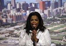 <p>Oprah Winfrey gives a speech during a dinner held by the Chicago 2016 Olympic bid team at a hotel in Copenhagen, September 30, 2009. REUTERS/Matt Dunham/Pool</p>