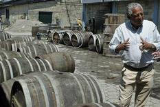 <p>Thierry Gardere, Director General of the Societe du Rhum Barbancourt, speaks during an interview with Reuters in one of their factories in Port-au-Prince March 24, 2010. REUTERS/Felix Evens</p>