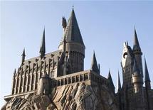 """<p>Castelo de Hogwarts, em construção, faz parte do parque temático de """"O Mundo Mágico de Harry Potter"""" na Universal Orlando, na Flórida. 23/01/2010 REUTERS/Kevin Kolczynski/Universal Orlando/Divulgação</p>"""