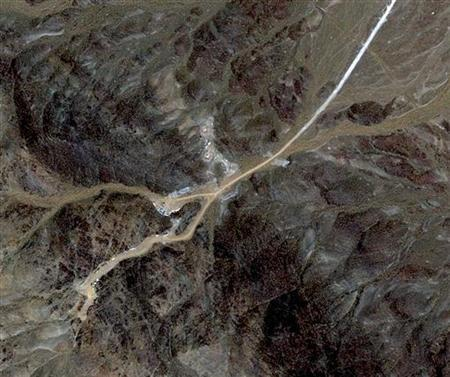This handout satellite image of the Natanz Uranium Enrichment plant in Iran, taken June 11, 2007, shows the facility being built by Iran with a new tunnel facility inside a mountain near a key nuclear complex. REUTERS/Courtesy of DigitalGlobe-ISIS/Handout