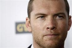 "<p>Ator Sam Worthington, durante evento em Hollywood, dá vida a um dos personagens animados de pele azul do blockbuster ""Avatar"". REUTERS/Mario Anzuoni/Files</p>"