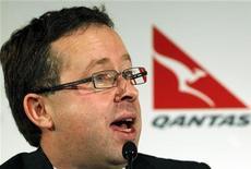 <p>Alan Joyce, amministratore delegato di Qantas, in foto d'archivio. REUTERS/Daniel Munoz</p>