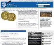 <p>A screen grab of ProPublica's web site. REUTERS/www.propublica.com</p>